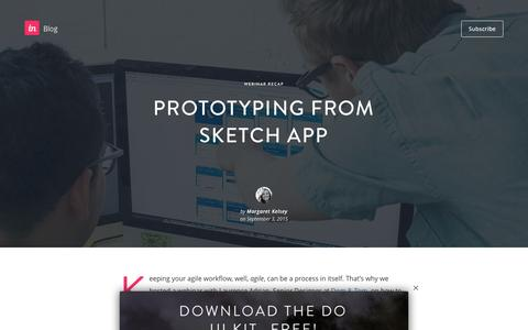 Screenshot of Blog invisionapp.com - Prototyping from Sketch App - InVision Blog - captured Dec. 14, 2016