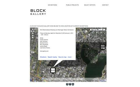 Screenshot of Locations Page block-gallery.com captured Sept. 30, 2014