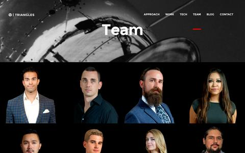 Screenshot of Team Page triangles.net - Team - Triangles Agency - captured Feb. 25, 2016