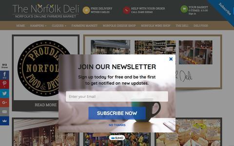 Screenshot of Home Page norfolk-deli.co.uk - Homepage - captured Sept. 25, 2018
