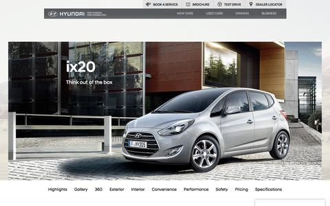 Hyundai ix20   New 5 Door Mini MPV Car   Hyundai UK