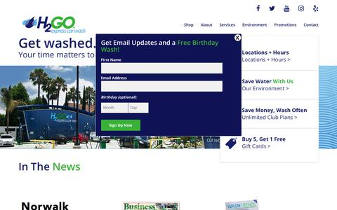 Screenshot of Press Page h2goexpress.com - News – H2Go Express Car Wash - captured July 9, 2017