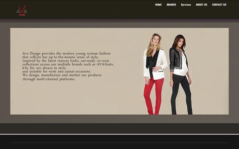 Screenshot of Home Page avadesignnyc.com - Ava design NYC - captured Sept. 30, 2014