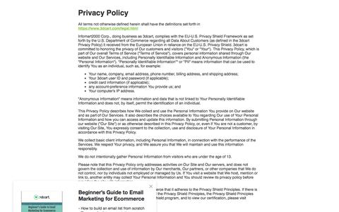 Privacy Policy | 3dcart