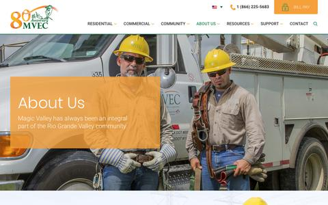 Screenshot of About Page magicvalley.coop - About Us – Magic Valley Electric Cooperative - captured Sept. 29, 2017