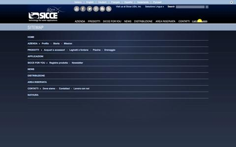 Screenshot of Site Map Page sicce.com - Sitemap ITA, Sicce - captured Oct. 7, 2014