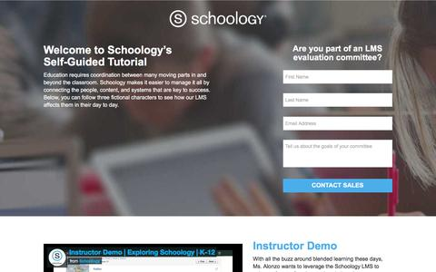 Screenshot of Landing Page schoology.com - Schoology Self-Guided Videos - captured March 31, 2018