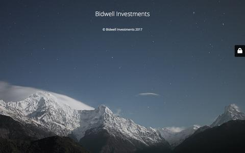 Screenshot of Home Page bidwellinvestments.com - Website is under construction - captured Oct. 10, 2017