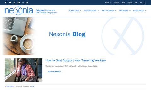 Screenshot of Blog nexonia.com - Nexonia Blog | Nexonia - captured Sept. 25, 2017