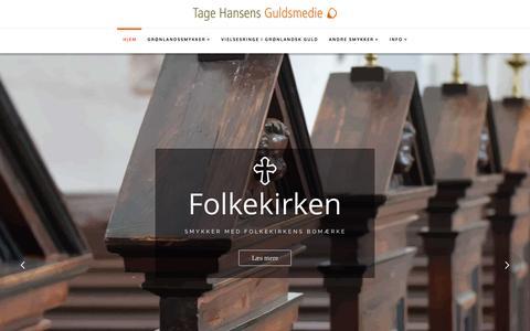 Screenshot of Home Page thulemanden.dk - Hjem - Tage Hansens Guldsmedie - captured April 5, 2017