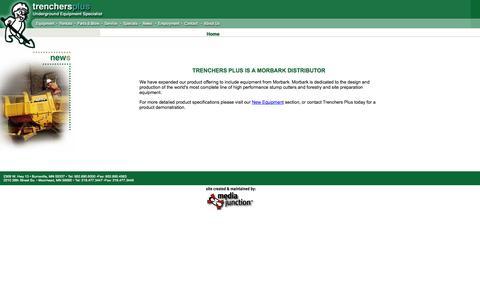 Screenshot of Press Page trenchersplus.com - Trenchers Plus - News - captured Oct. 7, 2014