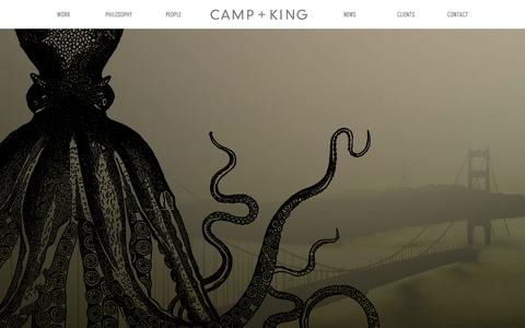 Screenshot of Home Page camp-king.com - Camp + King - captured Sept. 27, 2014