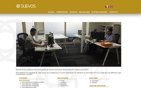 Screenshot of Services Page suevosgroup.com - Suevos - Services - captured Nov. 18, 2016