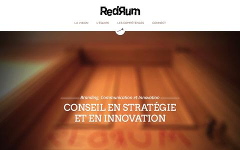 Screenshot of Home Page agence-redrum.com - Agence Redrum - captured July 23, 2016