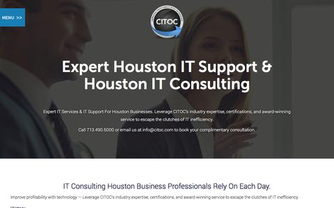 Screenshot of About Page citoc.com - IT Consulting Companies in Houston - captured Jan. 22, 2016