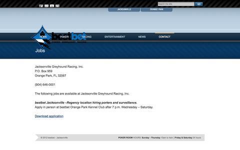 Screenshot of Jobs Page bestbetjax.com - Jobs   bestbet - captured Sept. 19, 2014
