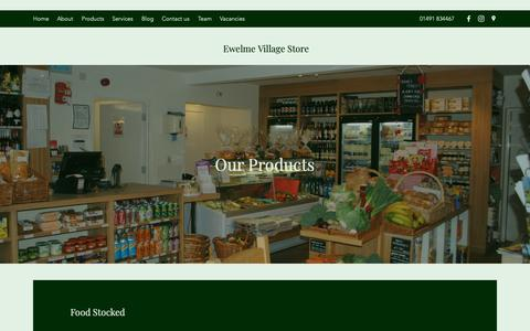 Screenshot of Products Page ewelmevillagestore.co.uk - Products   Ewelme Village Store - captured Dec. 16, 2018