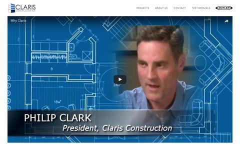 Screenshot of Testimonials Page clarisconstruction.com - Claris Construction   Testimonials - captured Aug. 1, 2017