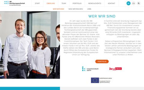 Screenshot of Jobs Page ibb-bet.de - Über uns - captured Oct. 1, 2018