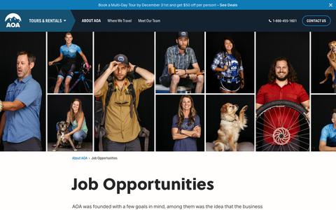 Screenshot of Jobs Page aoa-adventures.com - Job Opportunities at Arizona Outback Adventures - Adventure the AOA Way - captured Nov. 12, 2018