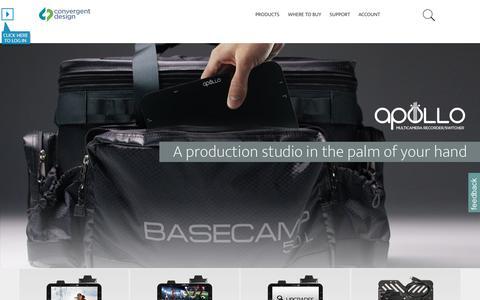 Screenshot of Home Page convergent-design.com - Convergent Design - captured July 15, 2016