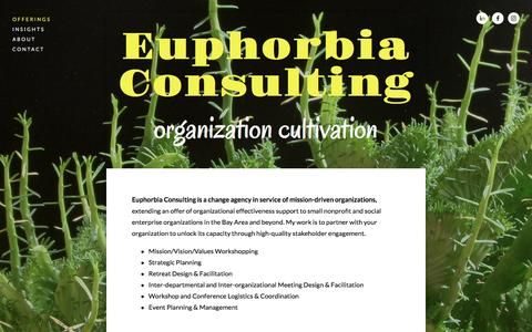 Screenshot of Home Page euphorbia-consulting.com - Euphorbia Consulting - captured July 16, 2016