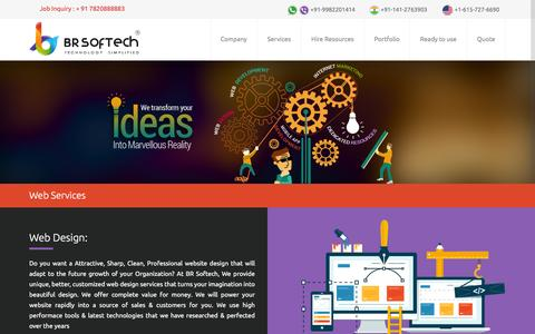Screenshot of Services Page brsoftech.com - Our Services | BR Softech Pvt. Ltd. - captured Feb. 7, 2016