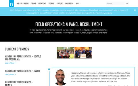 Field Operations & Panel Recruitment – Nielsen Careers