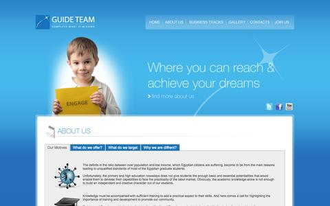 Screenshot of About Page guide-team.com - About Us | Guide Team - captured Sept. 30, 2014