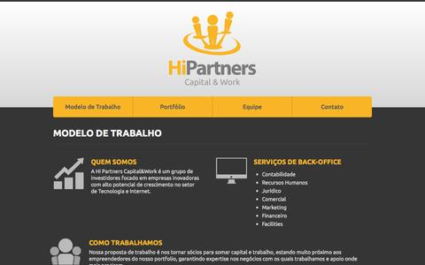 Screenshot of Home Page hipartners.com.br - Hi Partners - captured Oct. 2, 2014