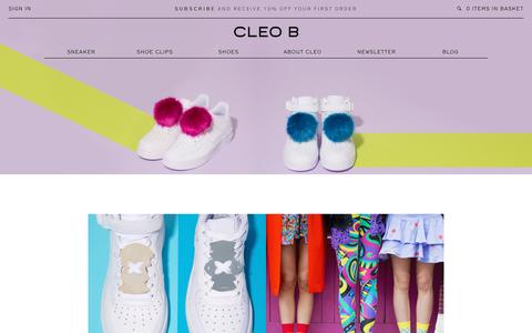 Screenshot of Home Page cleob.com - CLEO B London | Premium Designer Women's Shoe Clips & Shoes. - captured Oct. 16, 2015