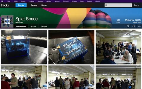Screenshot of Flickr Page flickr.com - Flickr: Splat Space's Photostream - captured Oct. 26, 2014