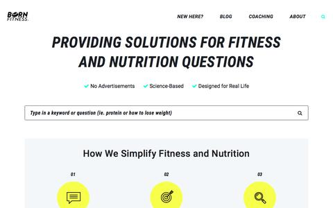 Fitness and Nutrition Help for Real People - Born Fitness Blog