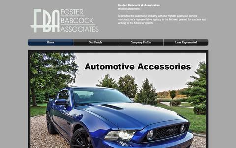 Screenshot of Home Page fosterbabcock.com - Foster Babcock & Associates - captured Oct. 14, 2017