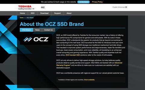 Screenshot of About Page ocz.com - About OCZ SSD Brand - captured July 3, 2016