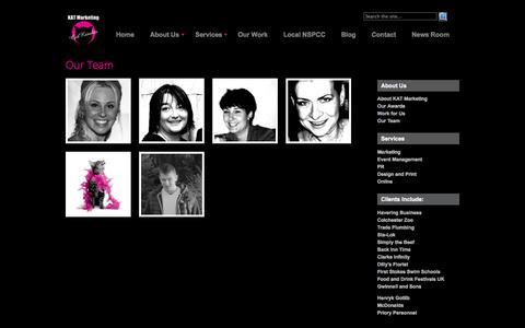 Screenshot of Team Page katmarketing.co.uk - Our Team - captured Sept. 30, 2014