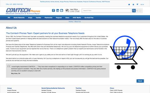 Screenshot of About Page comtechphones.com - About Us | USA Business Telephone Equipment - captured Sept. 24, 2014
