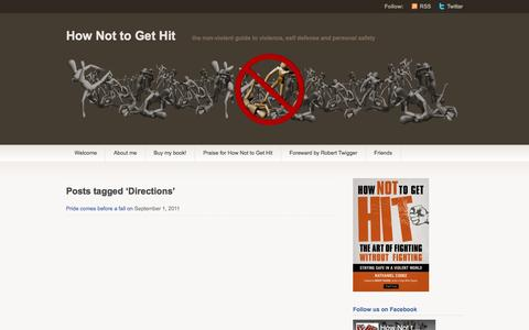 Screenshot of Maps & Directions Page hownottogethit.com - Directions | How Not to Get Hit - captured July 16, 2016