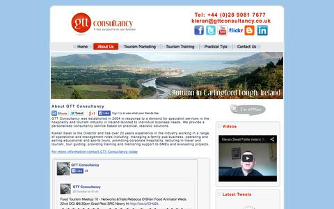 Screenshot of About Page gttconsultancy.co.uk - GTT Consultancy - captured Oct. 22, 2014