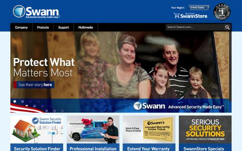 Screenshot of Home Page swann.com - Swann.com - captured June 18, 2015