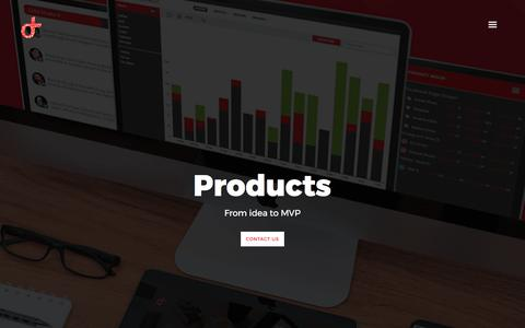Screenshot of Products Page digitaltribe.co - Products | Digital Agency | Interactive Digital Media | Lead Generation | ROI based Digital campaigns - captured Oct. 12, 2017