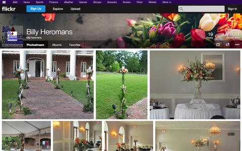 Screenshot of Flickr Page flickr.com - Flickr: billy heromans' Photostream - captured Oct. 23, 2014