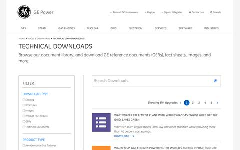 Screenshot of Contact Page gepower.com - Technical Downloads   GE Power Generation - captured Jan. 20, 2018