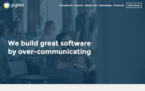 Screenshot of Home Page pytex.net - PYTEX | Web Development Consultancy - captured Dec. 14, 2015