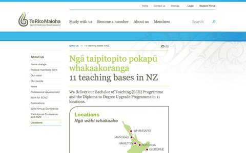 Screenshot of Locations Page ecnz.ac.nz - 11 locations » Te Rito Maioha Early Childhood New Zealand - captured March 8, 2016