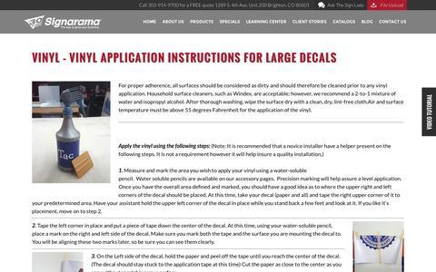 VINYL - Vinyl application instructions for large decals | Signarama Colorado