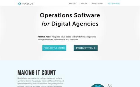 Screenshot of Home Page nexelus.net - Nexelus - captured June 23, 2015