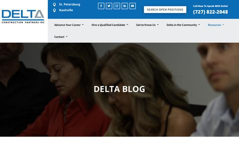 Screenshot of Blog deltaconstructionpartners.com - The Latest and Greatest at Delta Construction Partners | Blog - captured Nov. 13, 2018