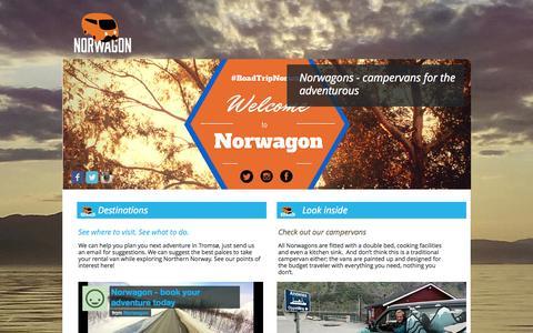 Screenshot of FAQ Page norwagon.com - Norwagon - Tromsø Campervan Rentals - captured Oct. 26, 2014