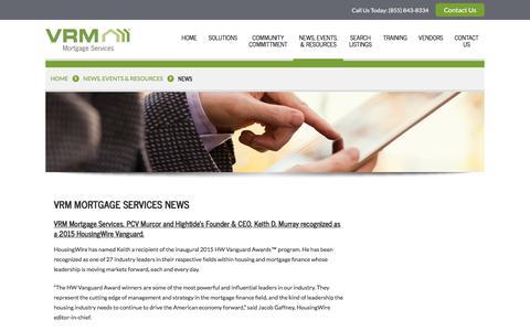 Screenshot of Press Page vrmco.com - VRM Mortgage Services News | VRM - captured Nov. 6, 2017